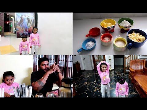 Our Little Elsa & Anna Went to Frozen 2 - Apple Crumble Recipe