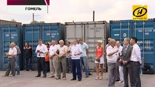 Первый грузовой поезд из Китая в Беларусь прямым сообщением прибыл в Гомель