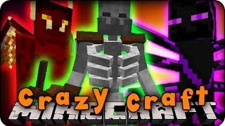Minecraft Mods - CRAZY CRAFT - Ep # 1 'I'M A LIZARD' (Morph Mod)