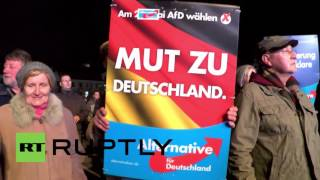 Germany: Hundreds of AfD supporters join anti-refugee protest