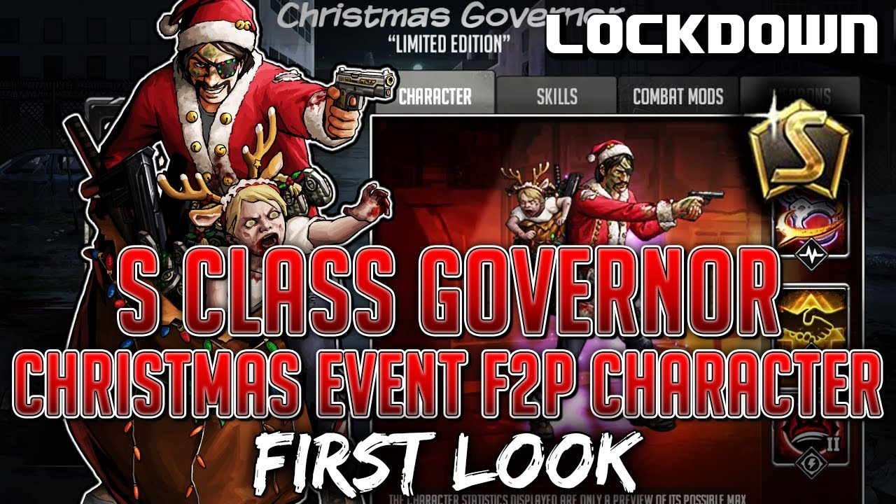 TWD RTS: S Class Governor, Christmas Event F2P Character! The Walking Dead: Road to Survival Leaks