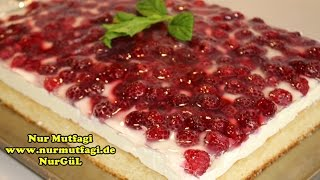 Alman pastasi Himbeerschnitte - frambuaz pastasi - Nurmutfagi