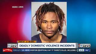 String of deadly domestic violence incidents occured in Las Vegas this past week