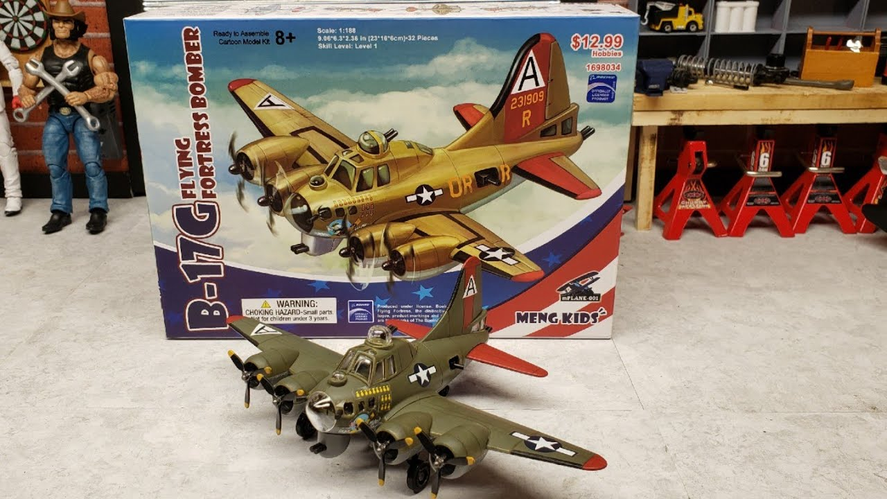 B17G flying fortress build by meng kids