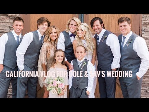CALIFORNIA VLOG FOR COLE AND SAVANNAHS WEDDING!