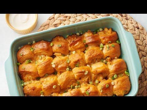Sweet Hawaiian Buffalo Chicken Sliders | Pillsbury Recipe
