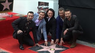 *NSYNC honored with star on Hollywood's Walk of Fame