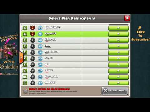 Clash Of Clans UPDATE! Clan War Opt In / Opt Out