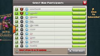 "Clash of Clans UPDATE! Clan War Opt In / Opt Out ""How To""!"