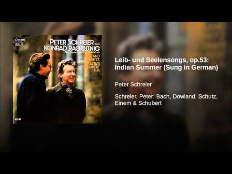 Leib- und Seelensongs, op.53: Indian Summer (Sung in German)