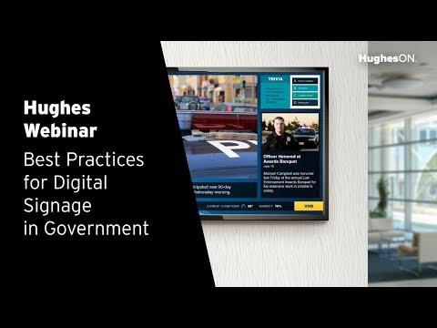 Best Practices for Digital Signage in Government Webinar
