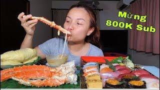🇯🇵Sushi Hải Sản, Chân Cua Hoàng Đế Chấm Phô Mai & Sầu Riêng - Ăn Mừng 800k Sub #318