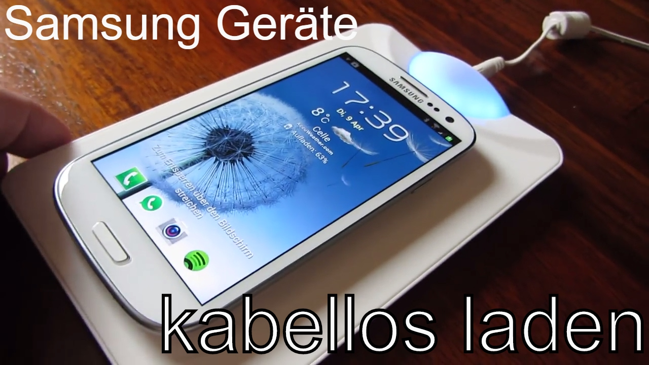 Kabelloses Laden Samsung : qi kabelloses laden mit dem samsung galaxy s3 und note 2 youtube ~ Watch28wear.com Haus und Dekorationen
