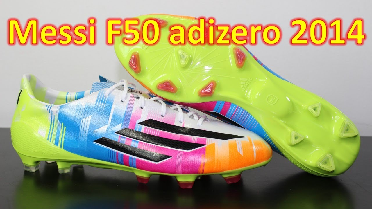 63a8c3dc647 Messi Edition Adidas F50 adizero 2014 - Unboxing + On Feet - YouTube