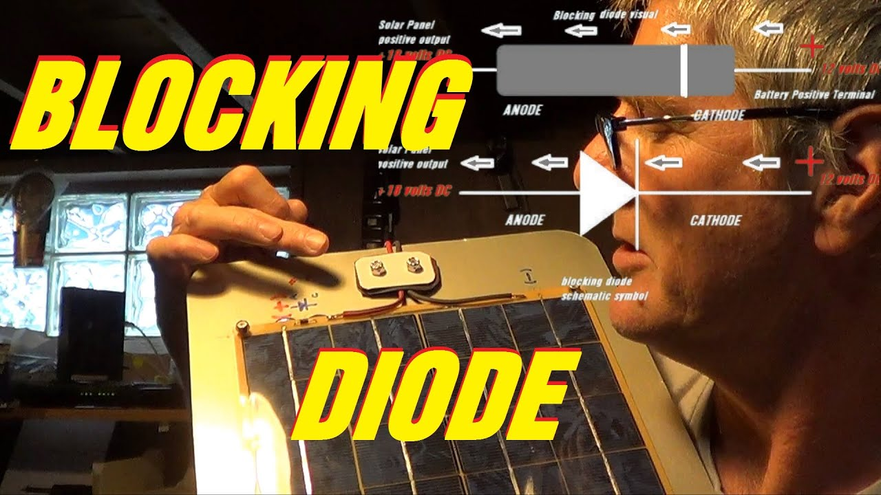 Solar Sailboat Blocking Diode Install Home Made Panel Interactive System Wiring Diagram Battery Charger Solartektv