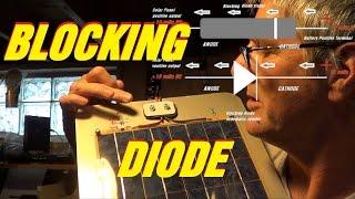 Solar Sailboat BLOCKING DIODE install ~  home made SOLAR PANEL battery charger solartekTV