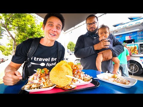 San Diego Food Tour - MASSIVE BURGERS And CRAZY TOSTADAS In California, USA!