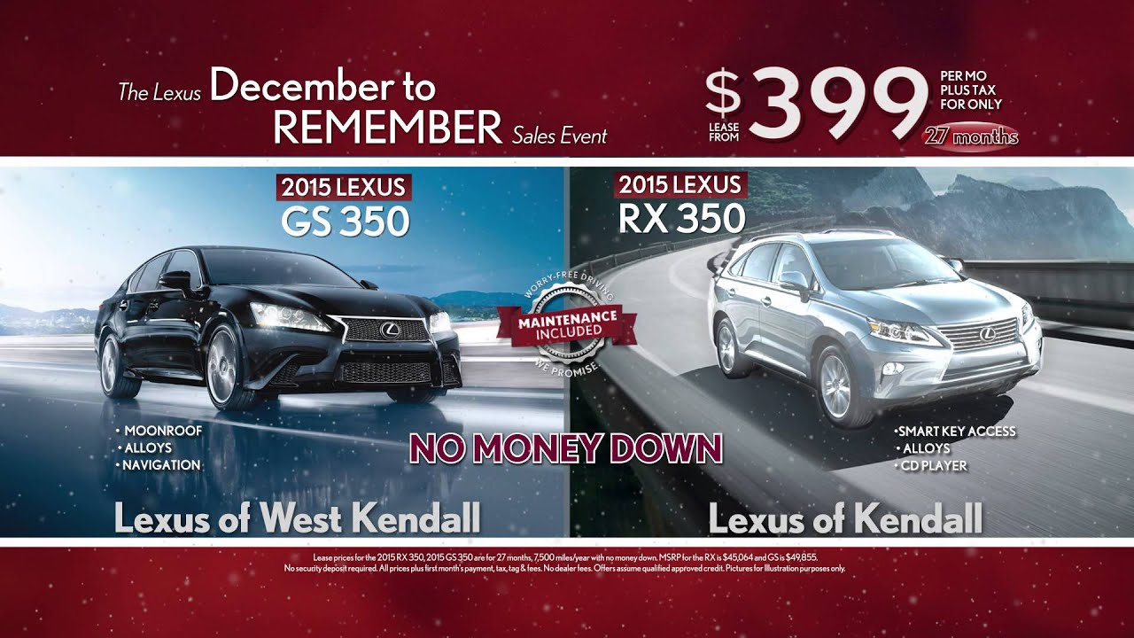 December to Remember RX GS Lexus Kendall West Kendall