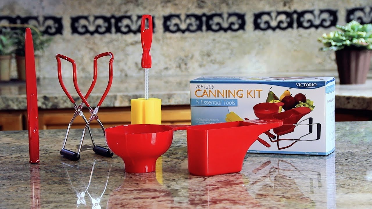 5-Piece Home Canning Kit with 2-Cup Measuring Cup by VICTORIO VKP1205