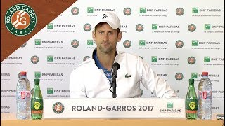 Novak Djokovic - Press Conference after Quarterfinals 2017 | Roland-Garros