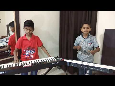 Swag se swaagat instrumental cover BY Little HARISH and PRATHAM