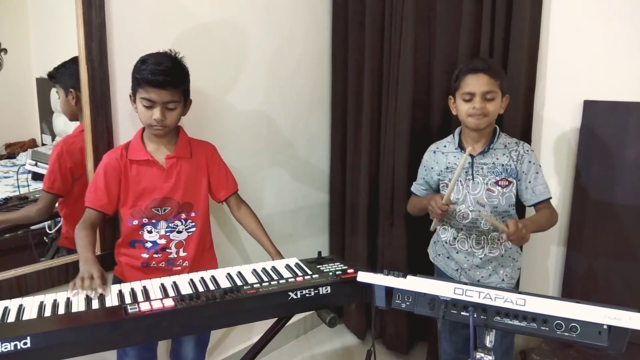 Swag se swaagat instrumental cover BY Little HARISH and PRATHAM #1