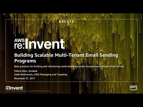AWS re:Invent 2017: Building Scalable Multitenant Email Sending Programs with Amazon (ARC210)