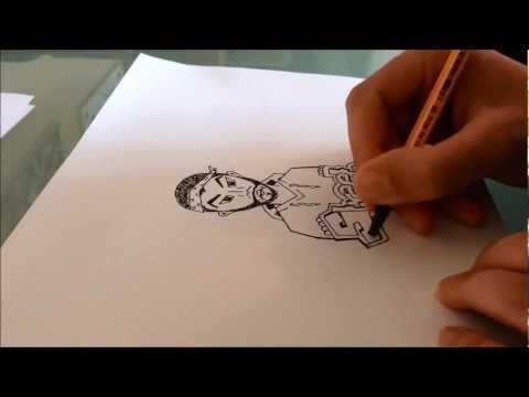 How to draw graffiti characters - Mexican Gangster thumbnail