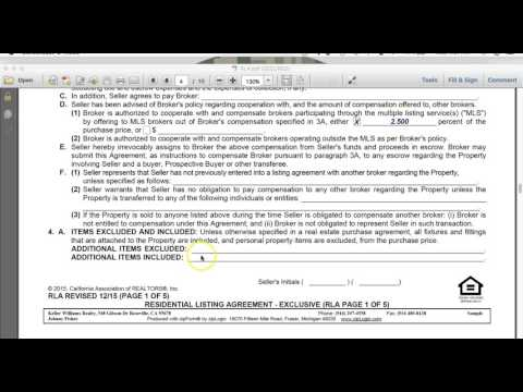 Understanding the Listing Agreement