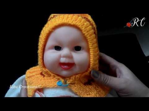 Baby Cap with Neck Warmer in easy Hindi Knitting (बच्चे के टोपी के साथ गले का वार्मर )