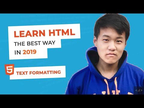Text Formatting  - HTML Tutorial for Beginners (2019) thumbnail