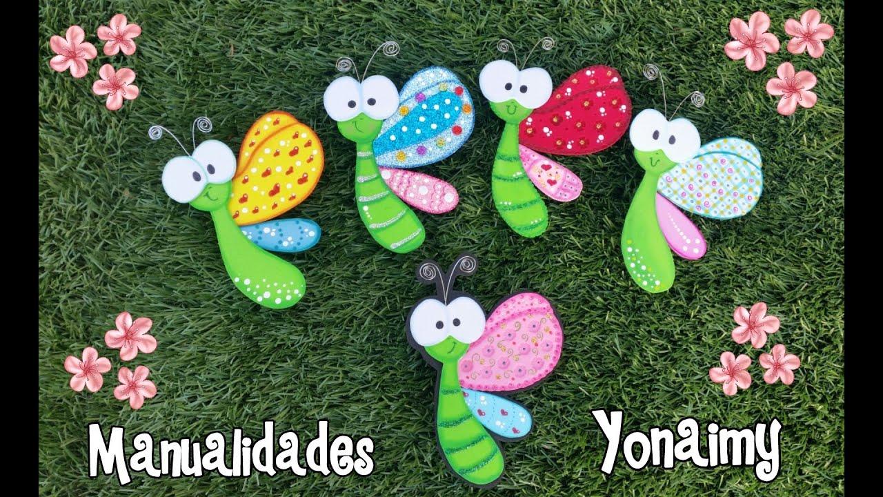 Mariposas de perfil hechas con foamy o goma eva youtube for Cosas de goma eva