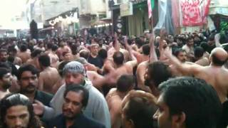 Ansar Party (Lahore) - 9th Muharram - Karbala 2011 - Sughra (s.a) Khairan Mangdi