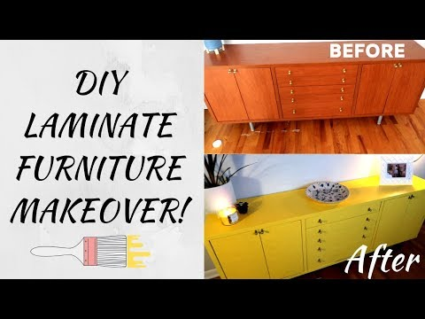how-to-paint-laminate-furniture!-mid-century-ikea-diy-refinish!