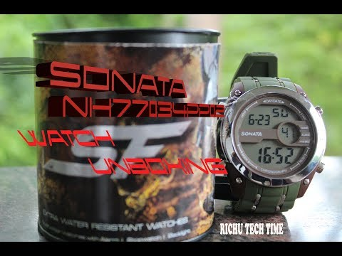 SONATA WATCH | NH77034PP02 | UNBOXING | RICHU TECH TIME #SONOTA WATCH #NH77034PP02 WATCH #TATA