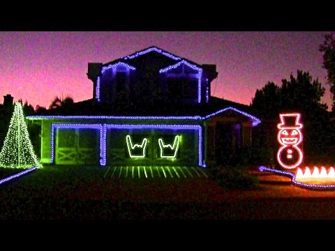 Slayer Christmas Light Show - Hail Santa!