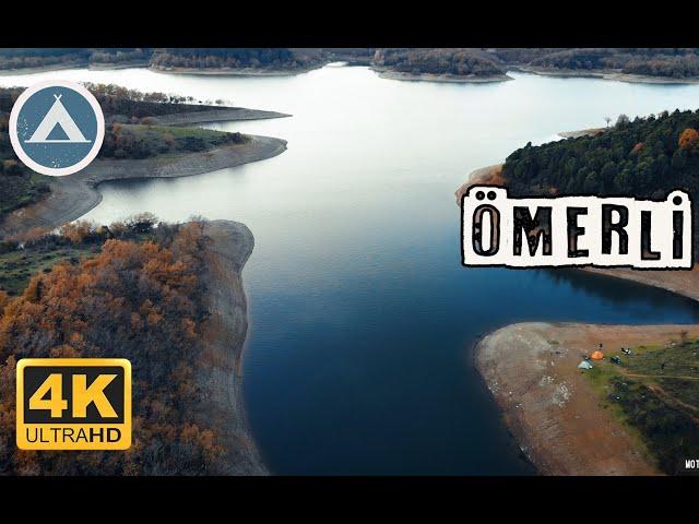 Ömerli Baraj Gölü   Drone 4K   İstanbul'da Kamp Yapılacak Yerler