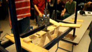 Ultimate Popsicle Bridge Design: 600lbs!