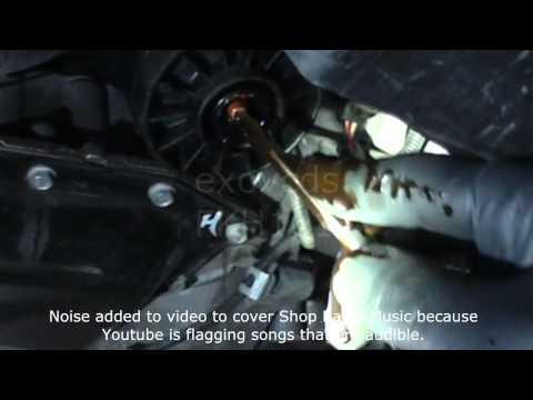 VW A5: Oil Filter Housing Draining Close-up (push & tilt the nipple)