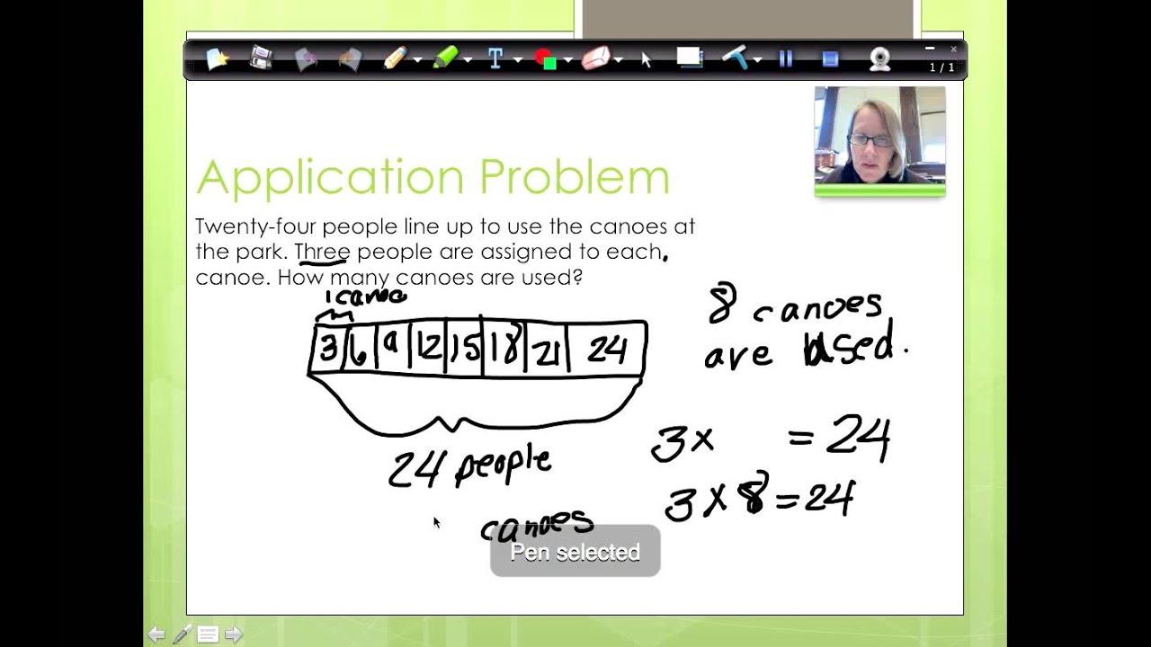 NY Common Core 3rd Grade Math Module 3 Lesson 3 - YouTube