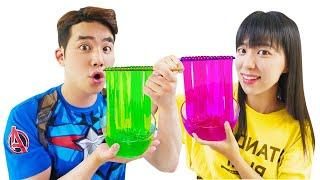 색깔 젤리 누들 만들기 Color noodle jelly | 말이야와아이들