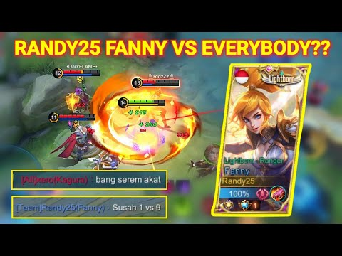 THE BEST FEEDER TEAM EVER!! RANDY25 SOLO RANK FANNY!! | Mobile Legends