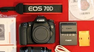 Canon EOS 70D Unboxing - Digital camera with 18-135 mm Lens