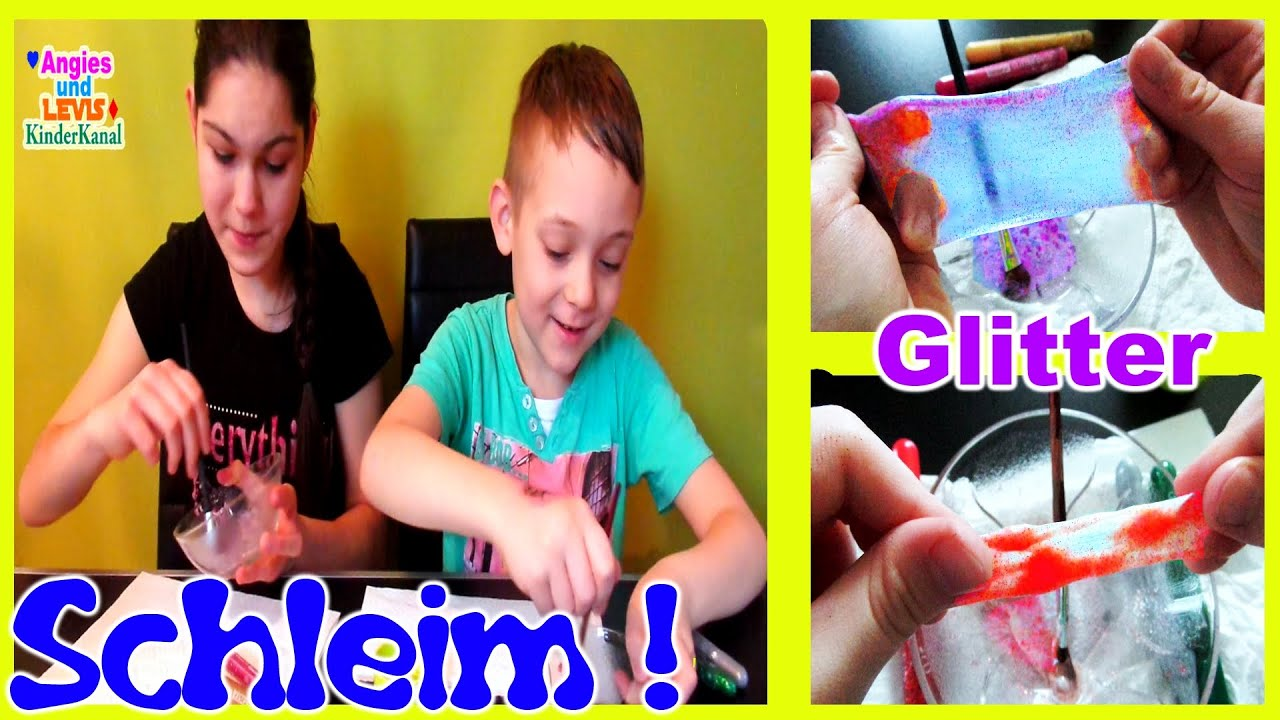 wie macht man glitzer schleim selber how to make glitter slime kinderkanal youtube. Black Bedroom Furniture Sets. Home Design Ideas