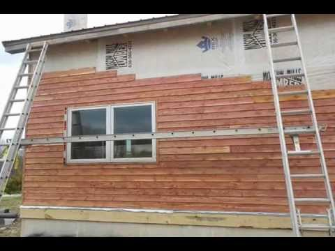 Cedar siding the cabin youtube for Cedar shake siding pros and cons