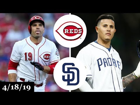 Cincinnati Reds vs San Diego Padres Highlights | April 18, 2019