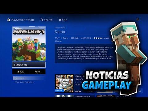 ¡GAMEPLAY! DEMO Minecraft Bedrock en PS4 + NOTICIAS Minecraft Xbox One/ PE