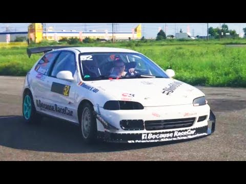Honda Civic EG B16a2 Swap 197 HP N/A Because RaceCar Team Track Training Day Part.1