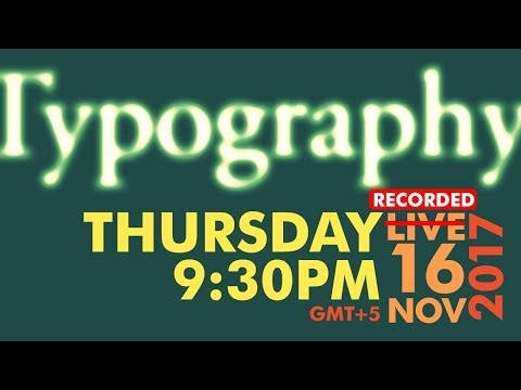 🔴 All about Typography in Graphic Design -  Urdu / Hindi