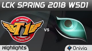 SKT vs KDM Highlights Game 1 LCK Spring 2018 W5D1 SK Telecom T1 vs Kongdoo Monster by Onivia